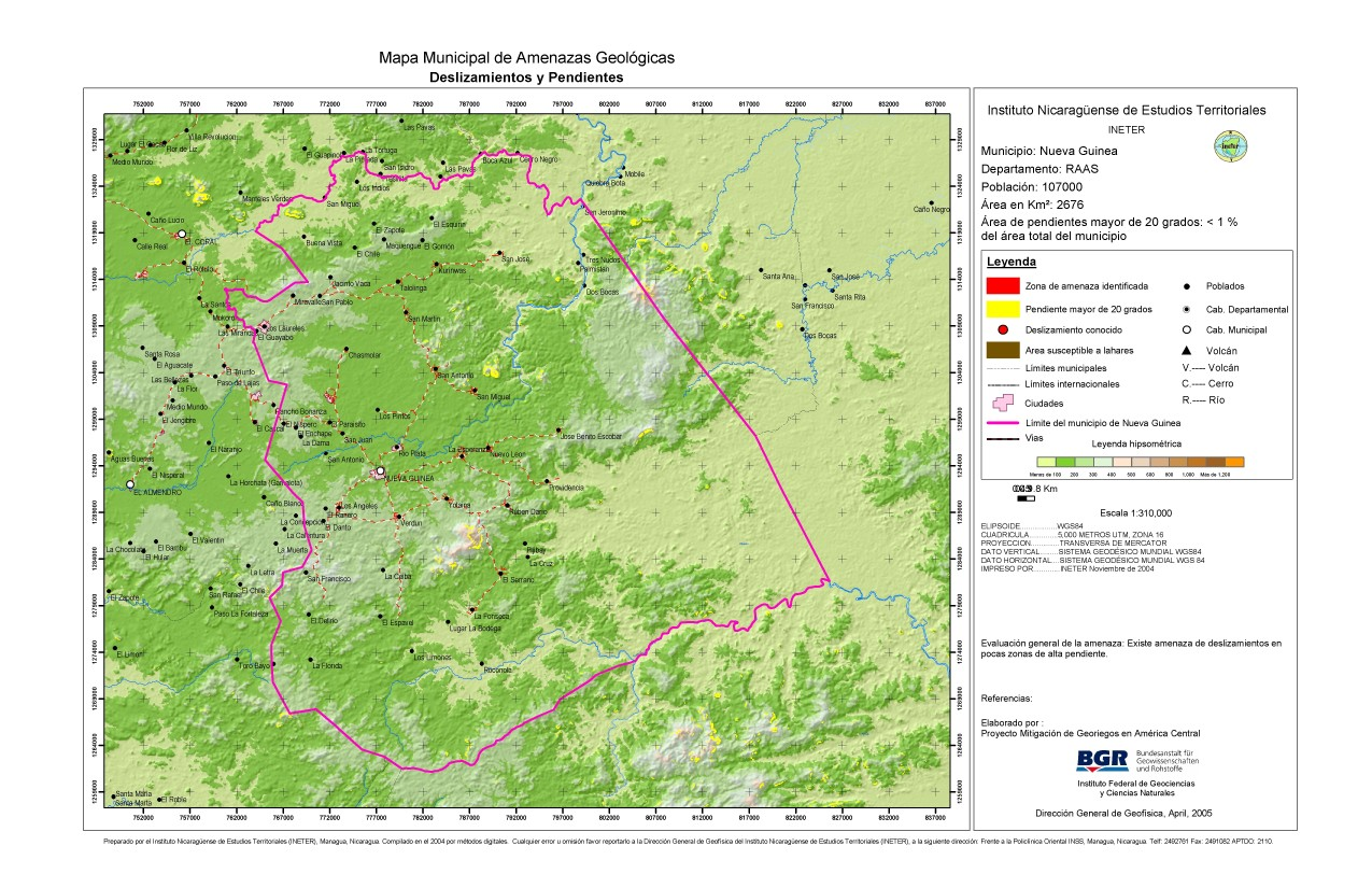 Nueva Guinea, R.A. Atlantico Sur - SkyserCity on map of pearl lagoon nicaragua, map of masaya nicaragua, map of managua nicaragua, map of tola nicaragua, map of mulukuku nicaragua, map of diriamba nicaragua, map of san juan del sur nicaragua, map of bluefields nicaragua,